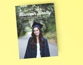 Photo Printable Graduation Announcement Invitation - Modern Fun grad Invite
