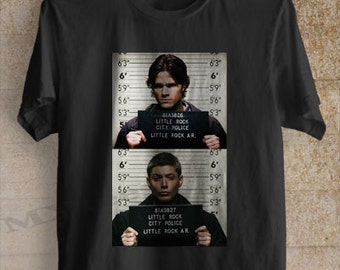 Supernatural shirt Supernatural Sam and Dean mugshot tshirt clothing unisex adult tee