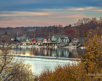 Philadelphia Boathouse Row * Photograph Philadelphia print Philadelphia art Philadelphia Skyline Philadelphia poster Philly poster