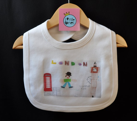 Novelty Baby Gifts Uk : Kid s london drawing funny baby bib gift uk seller
