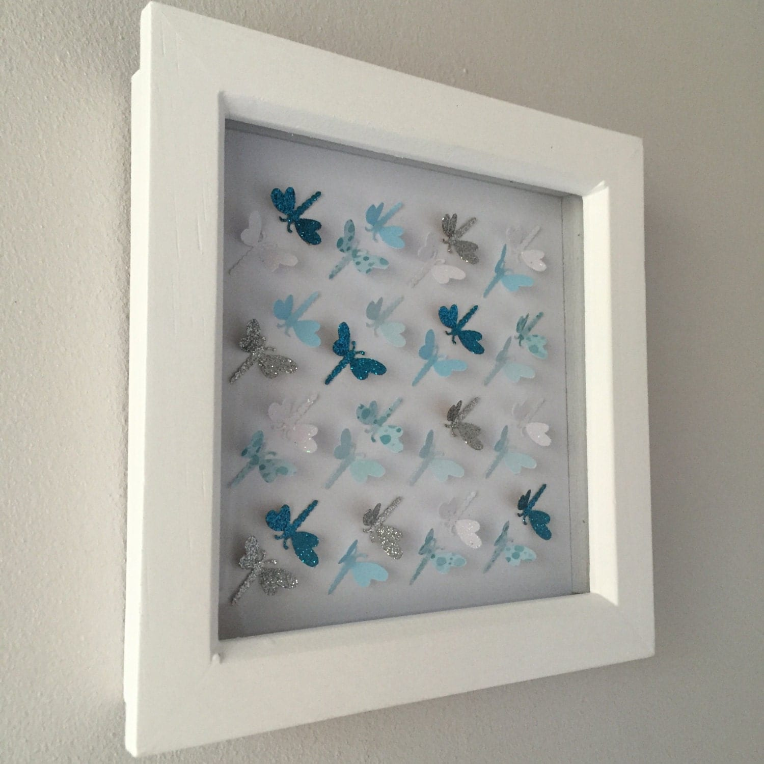 3d Paper Dragonfly Wall Art Home Decor Personalised Art