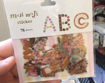 Moji Moji dessert Alphabet stickers