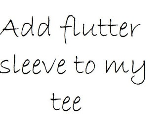 Add flutter sleeve to tee