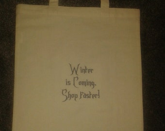 Winter is Coming shopping bag