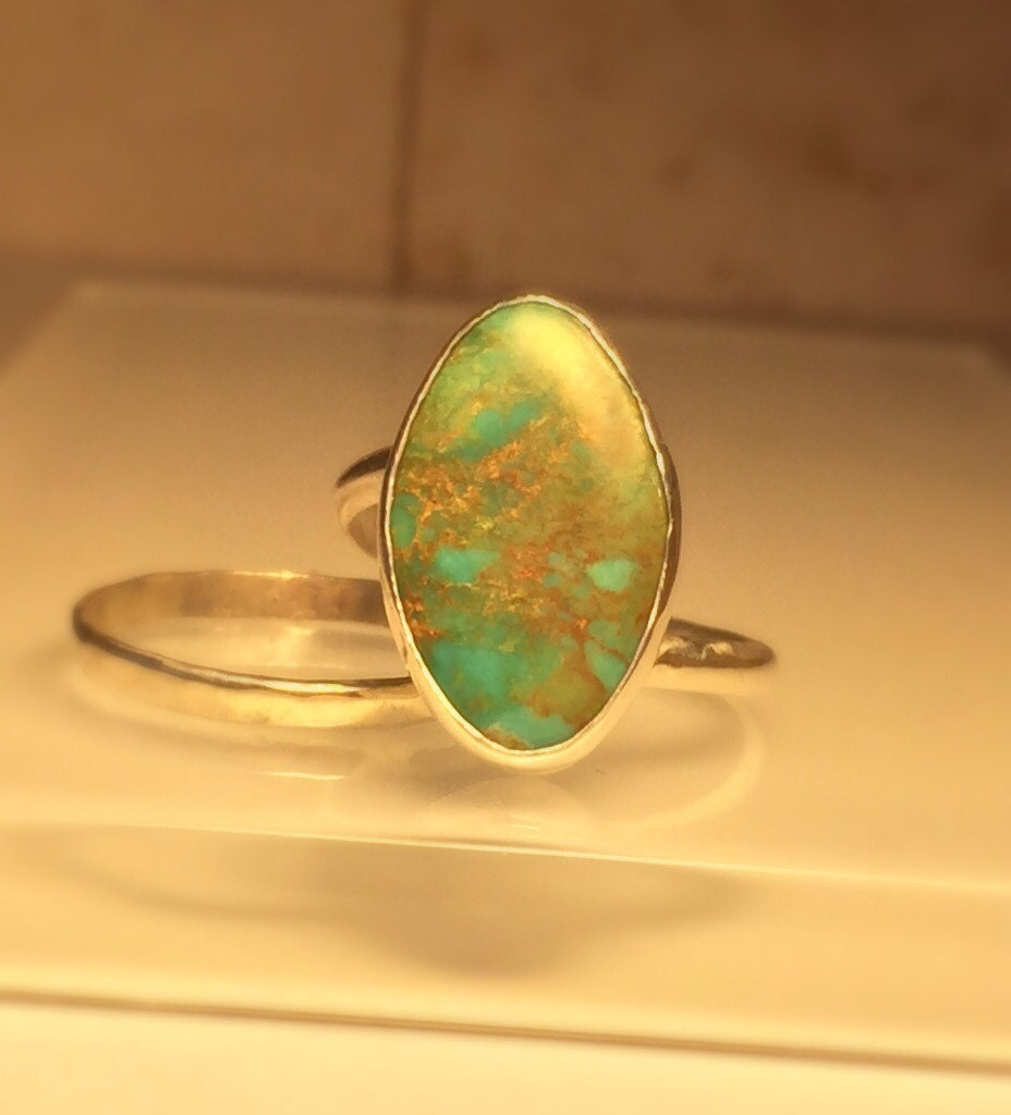 handmade turquoise ring handmade turquoise and by jewelriart