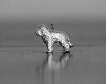 Sterling Silver Bearded Collie Charm