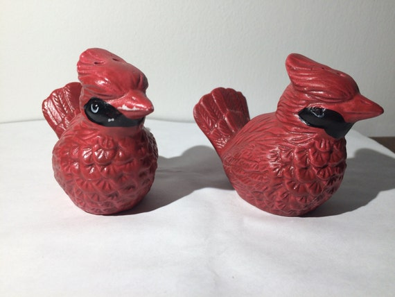Cardinal Salt and Pepper Shakers by A.E.Price