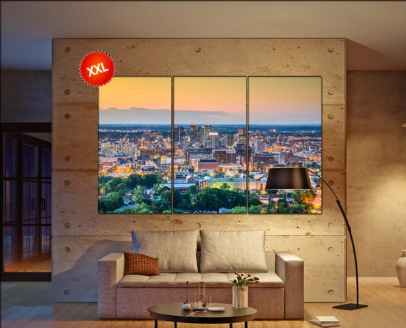 Birmingham  canvas wall art skyline Birmingham  wall decoration Birmingham canvas wall art art Birmingham  wall decor canvas wall art art