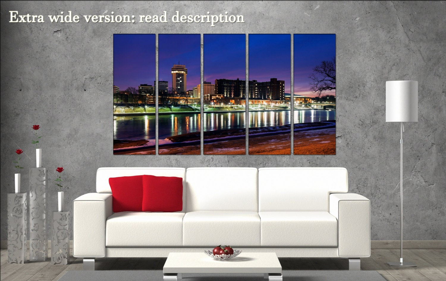 Wichita skyline print on canvas wall art wichita kansas for Craft stores wichita ks
