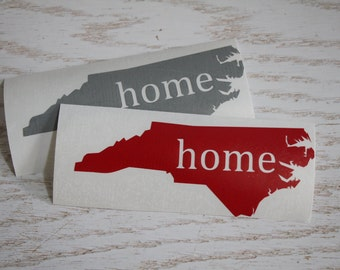 North Carolina State Vinyl Decal Sticker, NC Home State Heart Decal, NC State Car Decal, State Auto Decal, North Carolina Home, NC Home