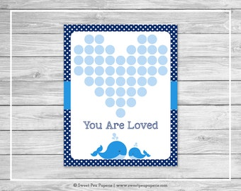 Whale Baby Shower Guest Book - Printable Baby Shower Guest Book - Blue Whale Baby Shower - Baby Shower Guest Book - Guest Book - SP127