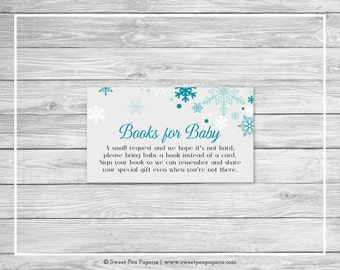 Winter Wonderland Baby Shower Book Instead of Card Insert - Printable Baby Shower Books for Baby - Winter Wonderland Baby Shower - SP114