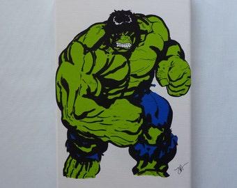 Canvas Print of The Incredible Hulk