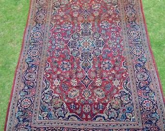 Antique persian kashan vintage rug carpet 7 x 4.5 feet