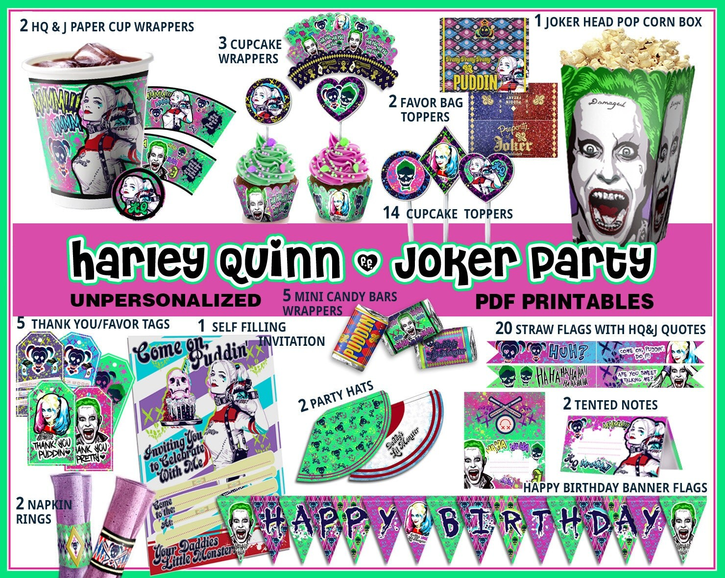 Harley queen birthday party suicide squad party harley quinn zoom stopboris Choice Image