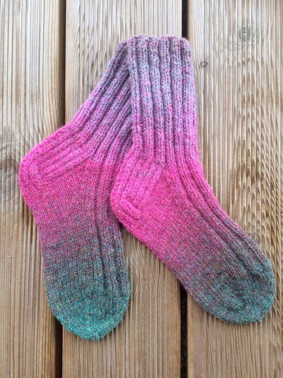 Knitting Pattern Wool Socks : Hand knit socks Wool socks Knitting in Handmade Women socks