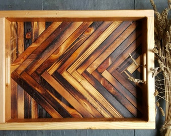 Rustic Serving Tray, Reclaimed Wood