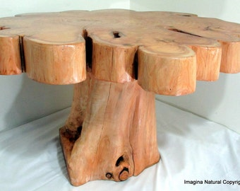 Wonderful Made To Order   Naturally Unique Cypress Tree Trunk Handmade Coffee Table    Log Rustic Chilean