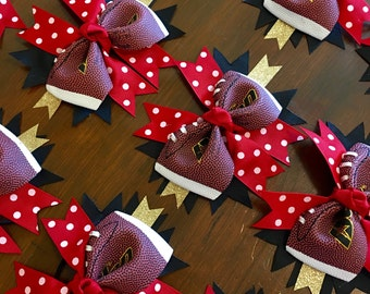 Team Order of 12 Football Bows