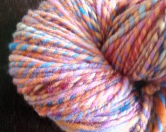 100% New Zealand Merino Wool Handspun yarn, Hand dyed yarn
