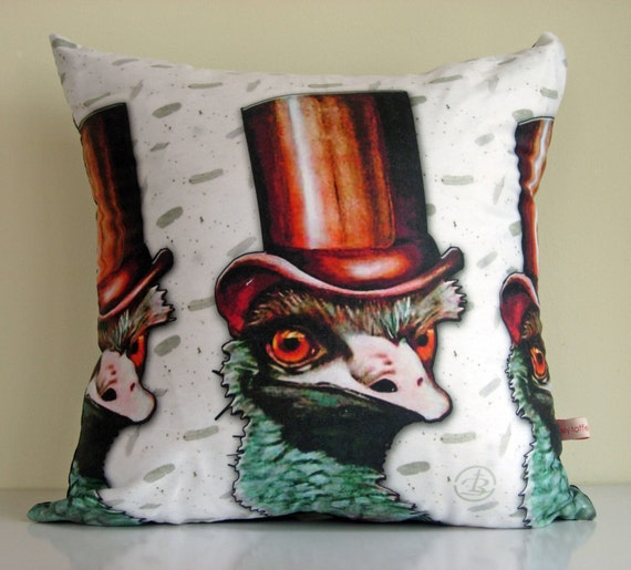 Emu Cushion Coveraustraliabird Printflightless By