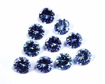 Wholesale lot of 25 pcs. ! Cubic Zirconia Round cut Amethyst cz loose gemstone For jewellery with free shipping