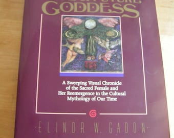 Vintage The Once and Future Goddess Book by Elinor W. Gadon 1989