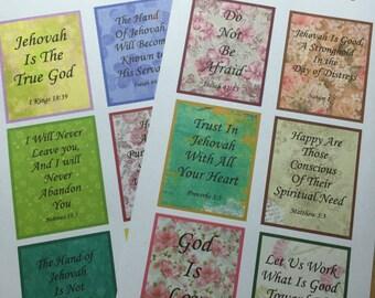 JW Planner Scripture Stickers