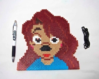 A Goofy Movie Roxanne Decorative Art - With Necklace Attached To Hang