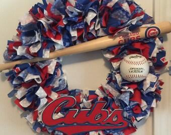 Chicago Cubs Wreath, Baseball