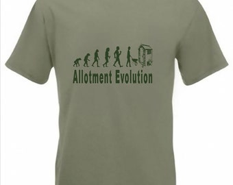 Evolution to Allotment t-shirt Funny Gardener T-shirt sizes S TO 2XXL