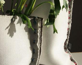 vase of concrete textile