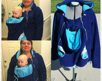 Hoodie for mom and baby,  Baby wearing coat, Breastfeeding hoodie; Baby wearing Dads; Babywearing Hoodie; Christmas Gift; Baby wearing