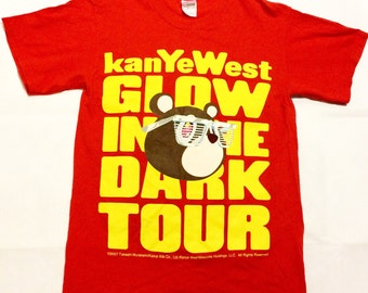 Kanye west glow in the dark concert t shirt mens small rap