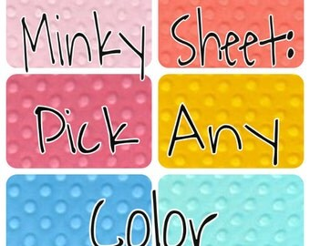 Minky sheet: Pick any Color