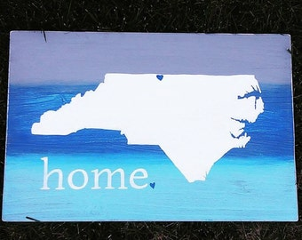 Personalized Home State North Carolina Sign