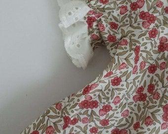 baby girls dress dusky pink flower floral dress summer dress newborn toddler peasant dress