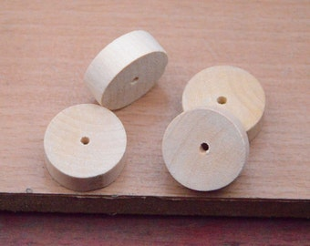 20pcs wood disk bead finding.25mm round wooden discs. thick wooden circle bead.wooden bread.
