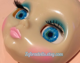 Realistic Dark Blue Soft Resin Eye Chips For Blythe (14 mm)