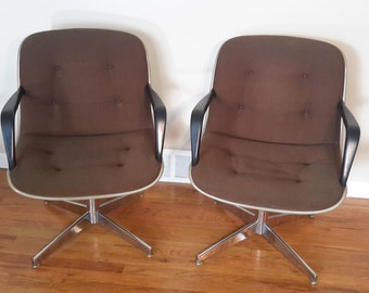 Mid Century Executive Pair of Steelcase Office Chairs