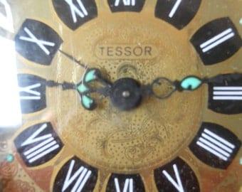 Vintage Retro German TESSOR Folding/Travel Wind Up Alarm Clock. Working
