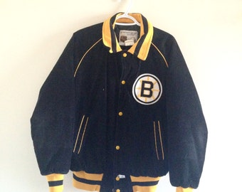 Vintage Boston Bruins Shain of Canada Corduroy Jacket