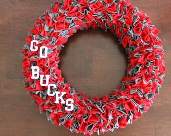 Ohio State Buckeyes Felt Wreath