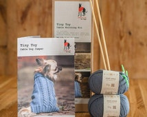 Knitting Kit Toy Dog Cable Jumper