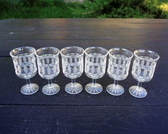 Crystal shot glasses - Vintage shot glasses - liqueur, balsam, vodka - clear glasses - Soviet crystal - 50 ml - set of 6