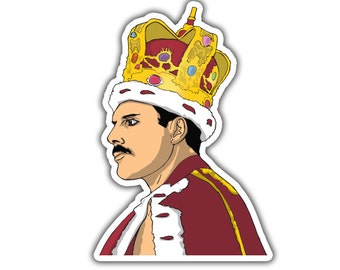Freddie Mercury Sticker - God Save the Queen
