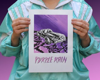 SCREENPRINT - PURPLE RAIN