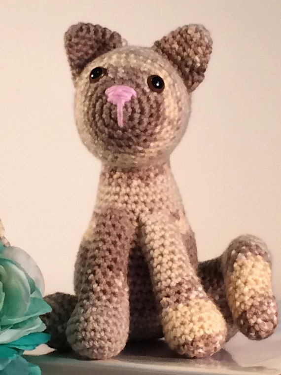 Amigurumi Cat Plush Crocheted Cat Kitten Siamese Calico