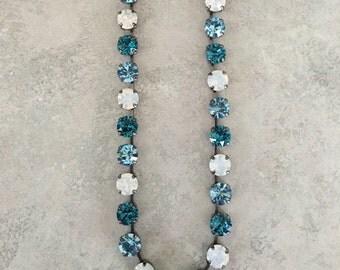 Blue ans opal necklace swarovski!!