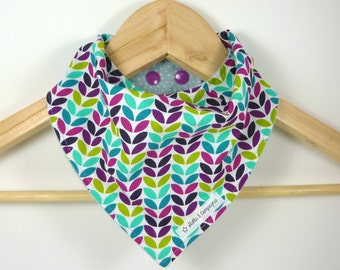 Funky Baby Bandana Bib - Drool Bib - For baby and toddler